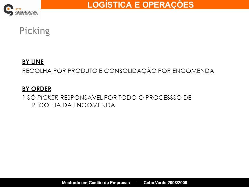 Picking BY LINE RECOLHA POR PRODUTO E CONSOLIDAÇÃO POR ENCOMENDA