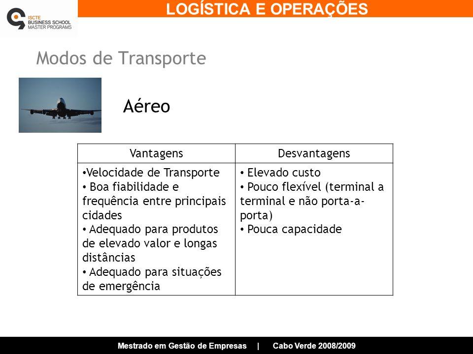 Modos de Transporte Aéreo Vantagens Desvantagens