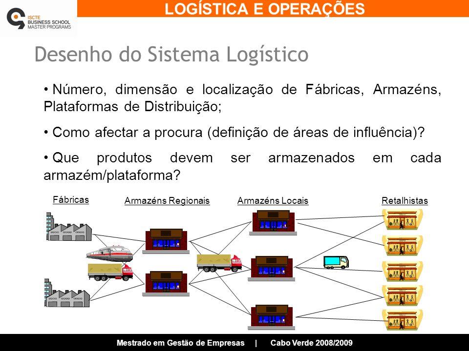 Desenho do Sistema Logístico