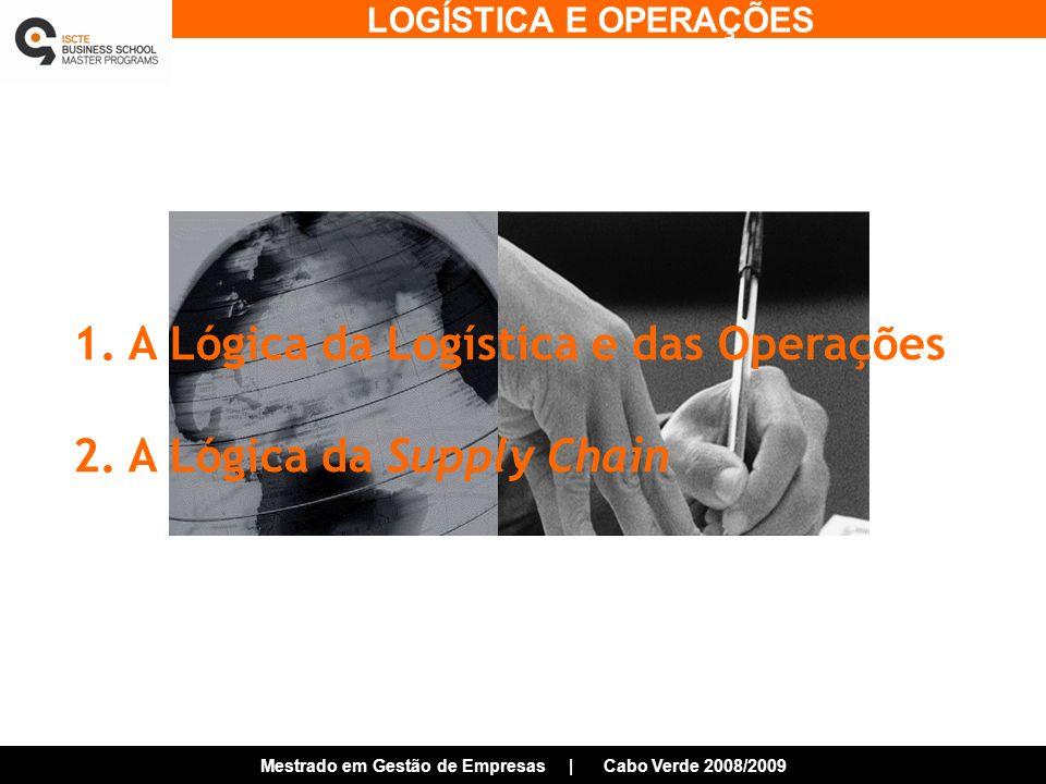 1. A Lógica da Logística e das Operações
