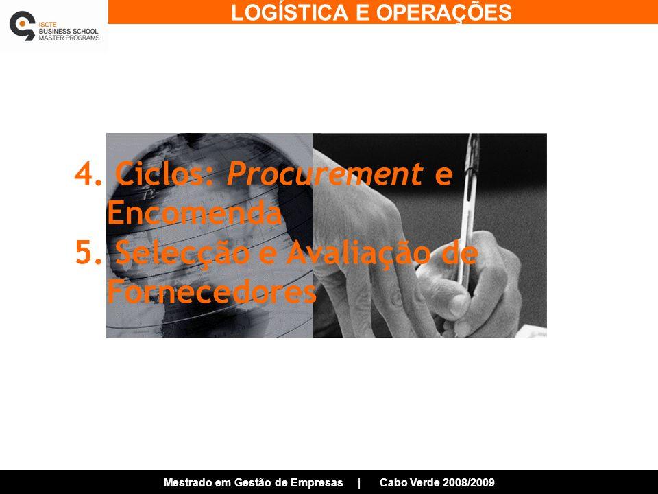4. Ciclos: Procurement e Encomenda