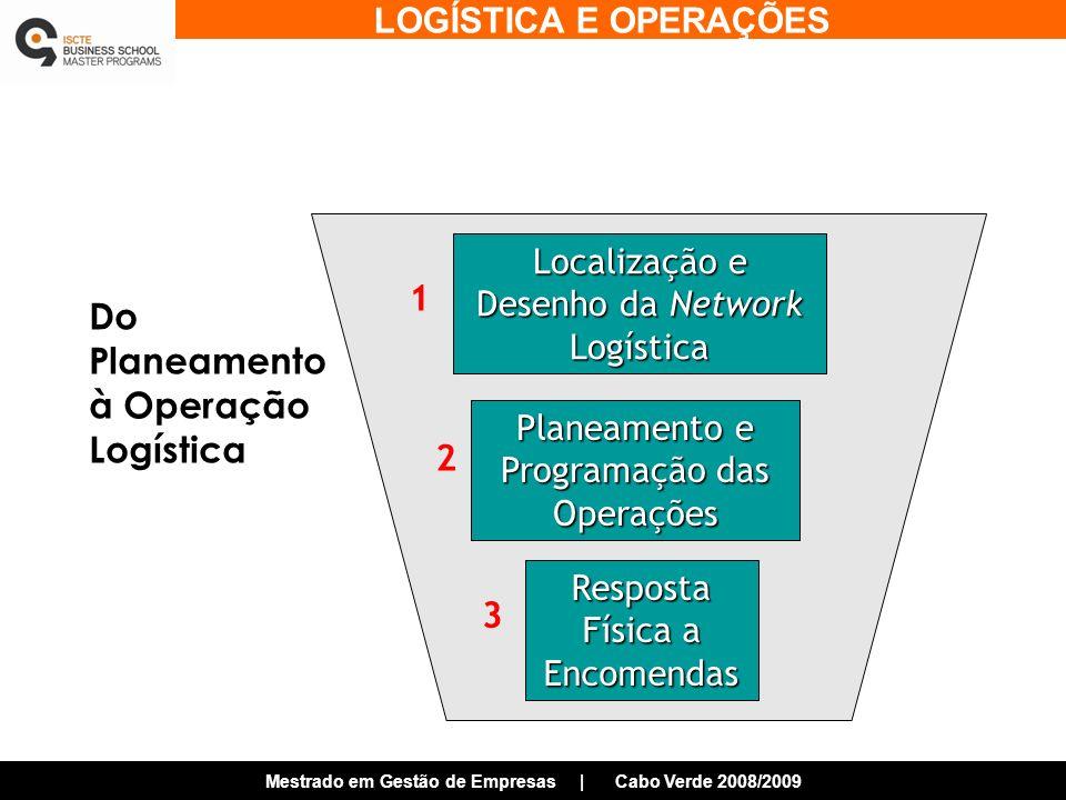 Do Planeamento à Operação Logística