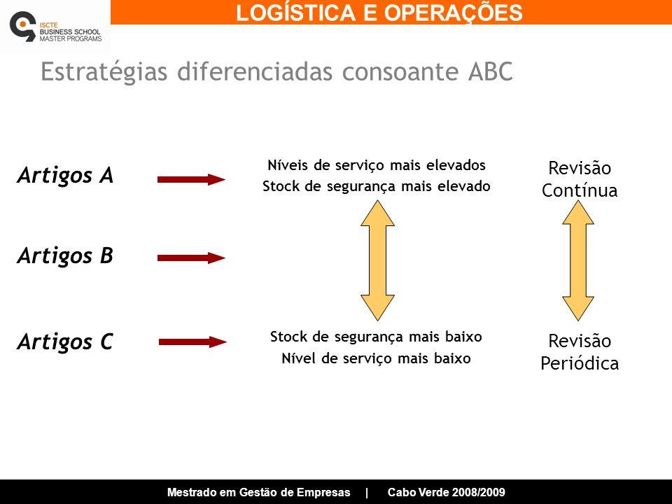 Estratégias diferenciadas consoante ABC