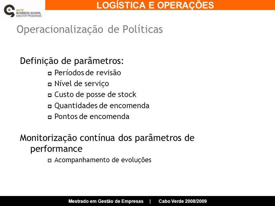 Operacionalização de Políticas