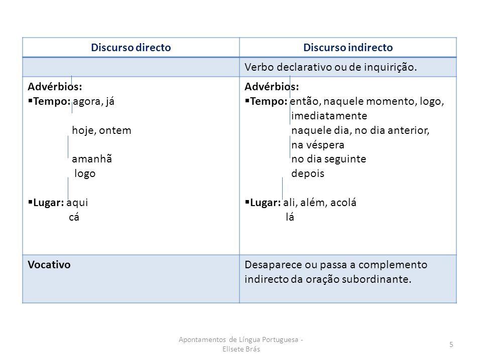 Apontamentos de Língua Portuguesa - Elisete Brás