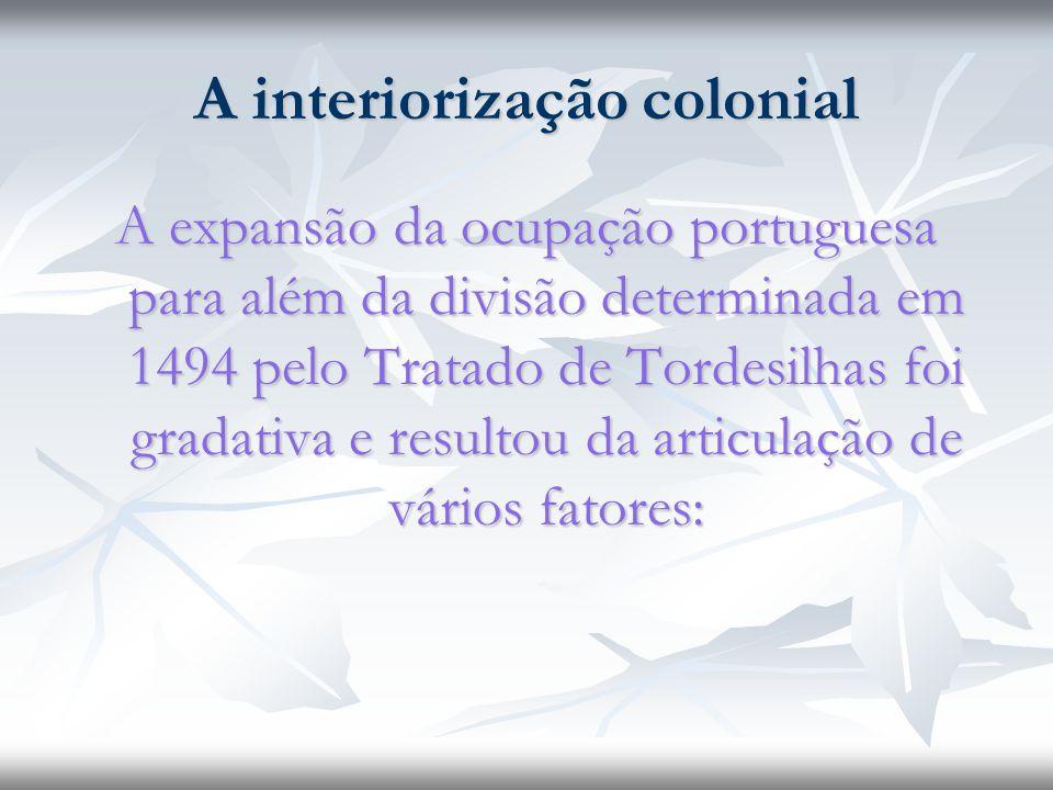 A interiorização colonial