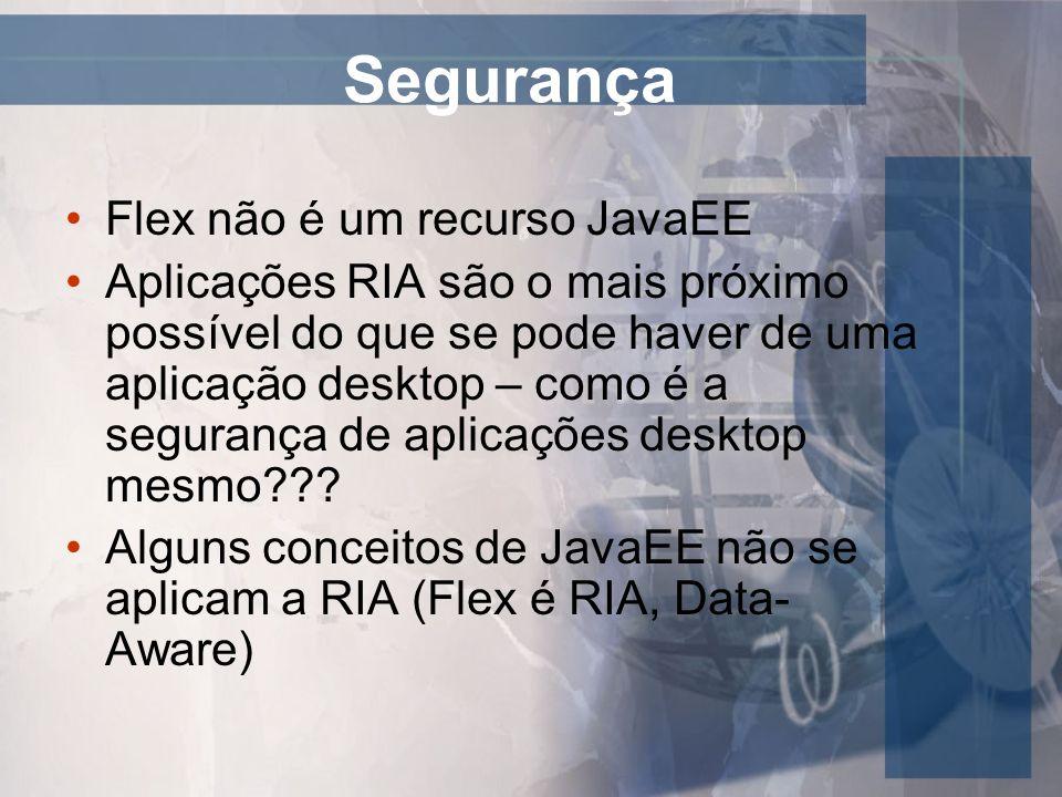 Segurança Flex não é um recurso JavaEE