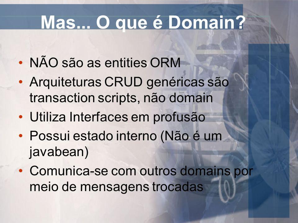 Mas... O que é Domain NÃO são as entities ORM