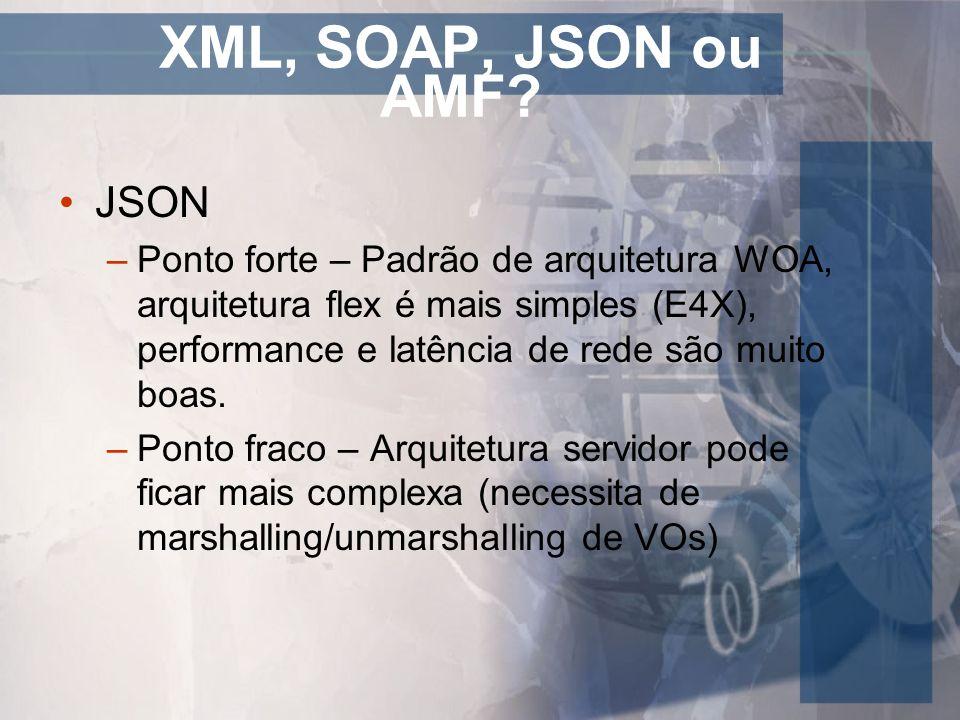 XML, SOAP, JSON ou AMF JSON
