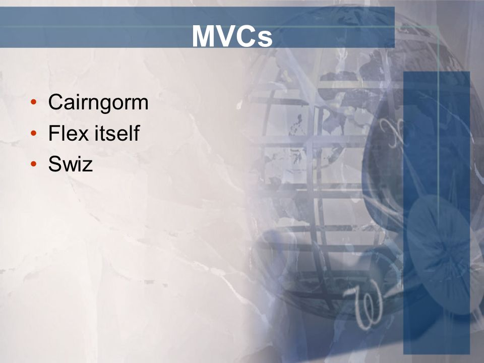 MVCs Cairngorm Flex itself Swiz