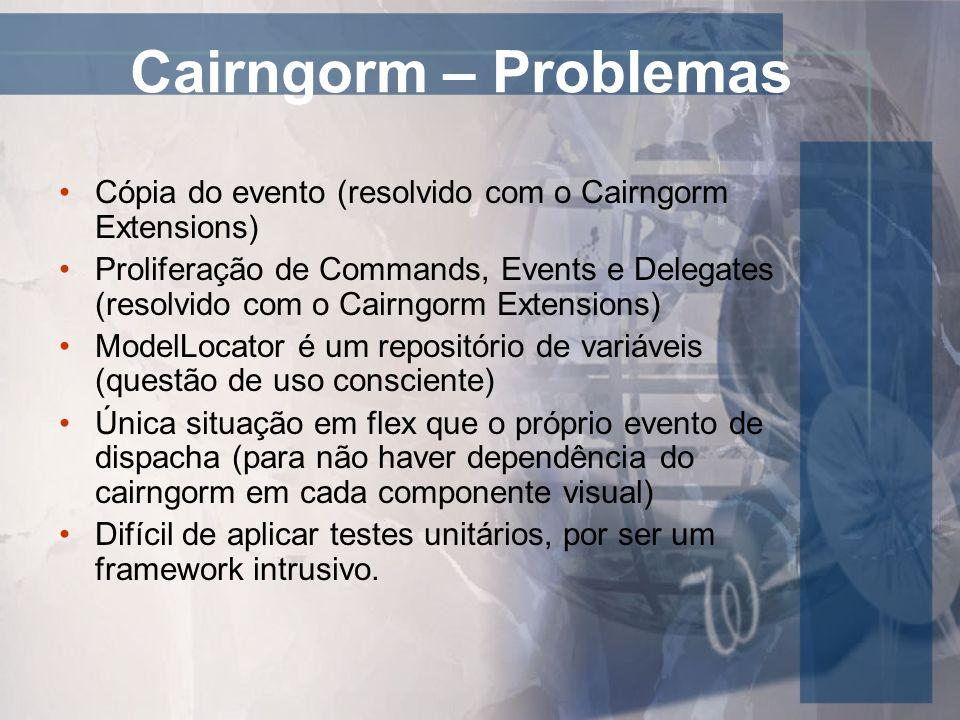Cairngorm – ProblemasCópia do evento (resolvido com o Cairngorm Extensions)