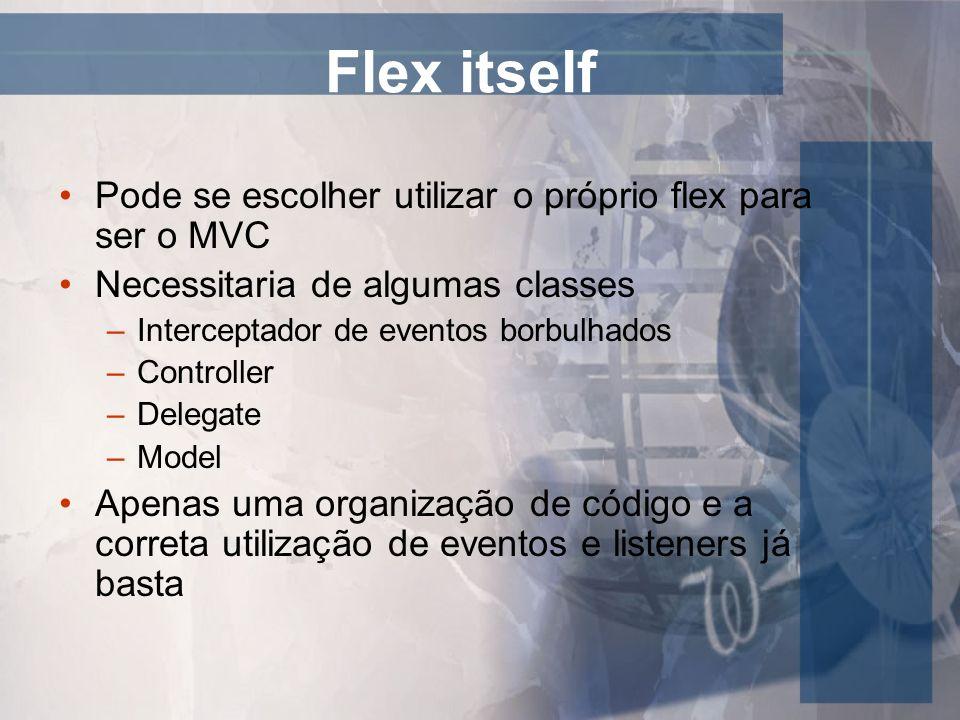 Flex itself Pode se escolher utilizar o próprio flex para ser o MVC
