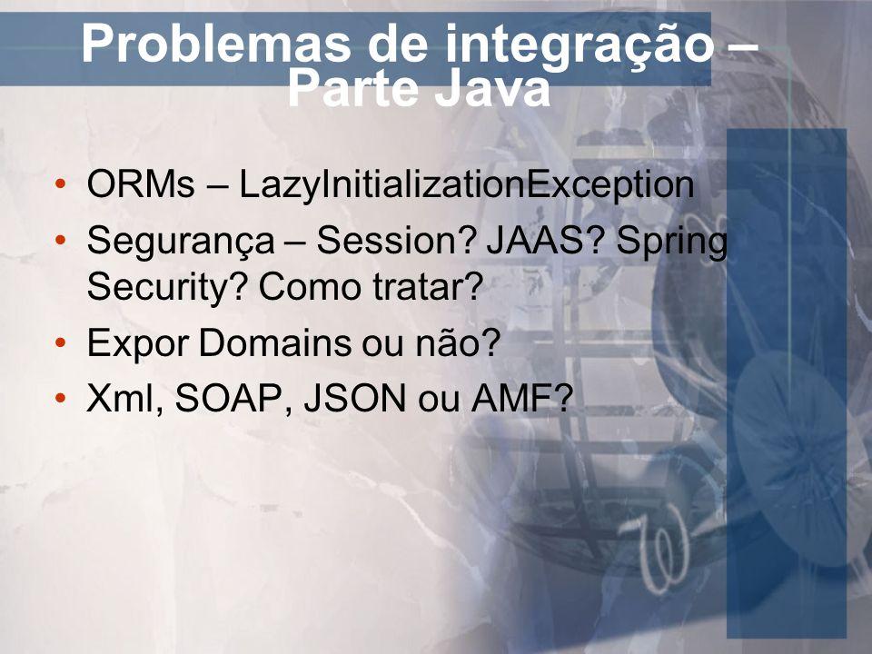 Problemas de integração – Parte Java