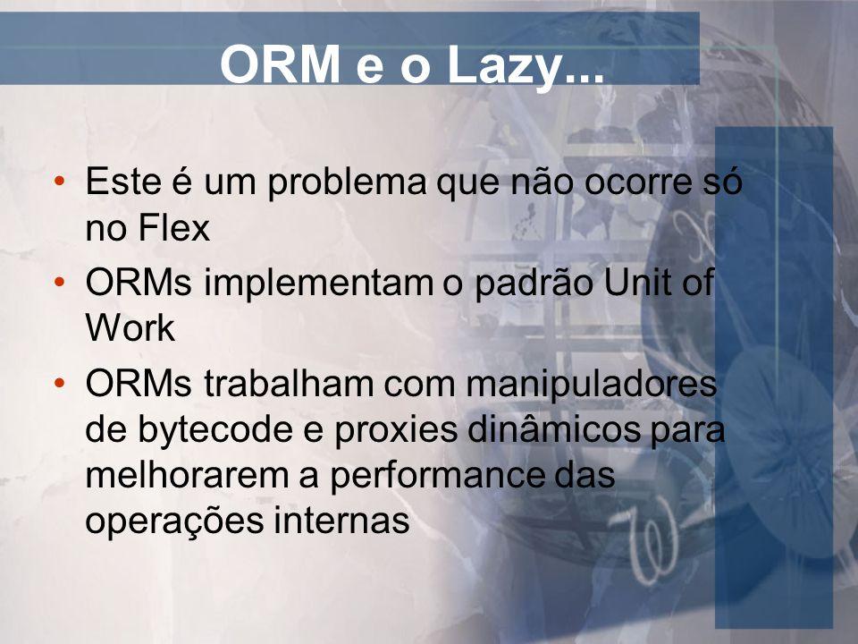 ORM e o Lazy... Este é um problema que não ocorre só no Flex