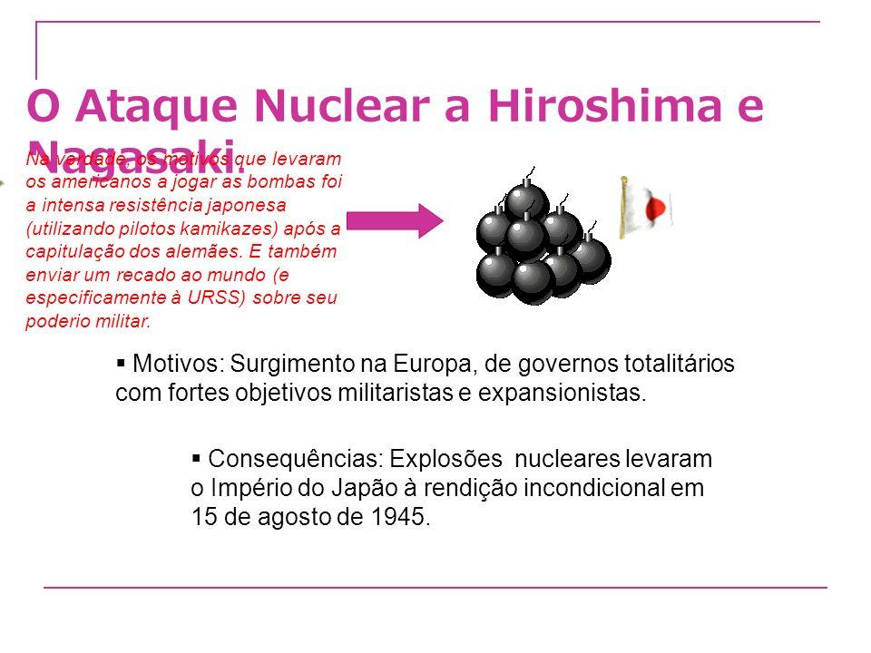 O Ataque Nuclear a Hiroshima e Nagasaki.