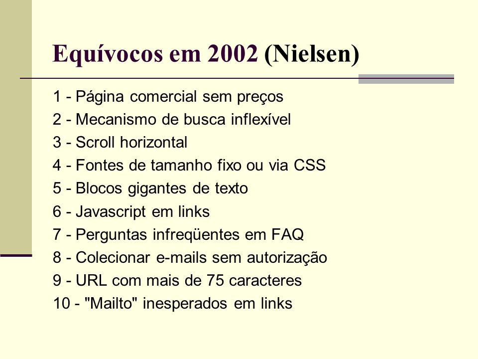 Equívocos em 2002 (Nielsen)