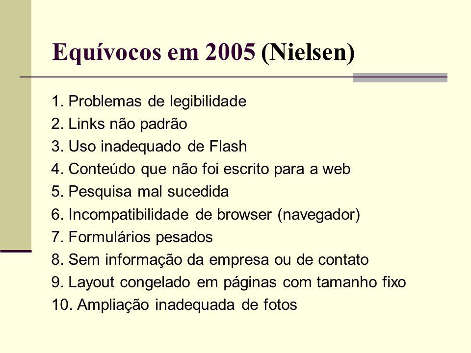 Equívocos em 2005 (Nielsen)
