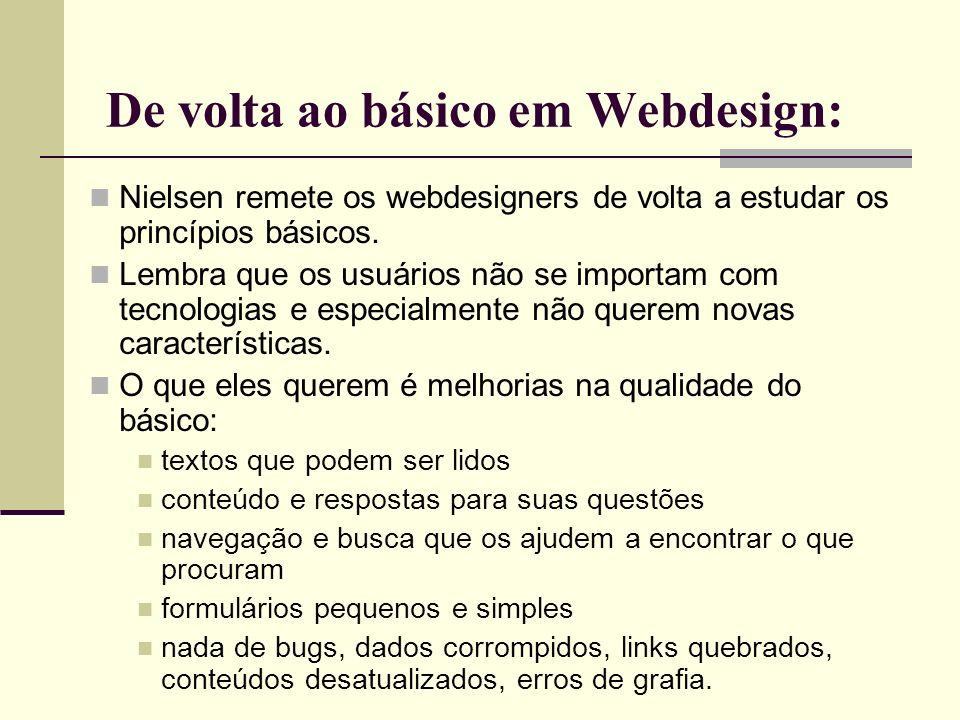 De volta ao básico em Webdesign: