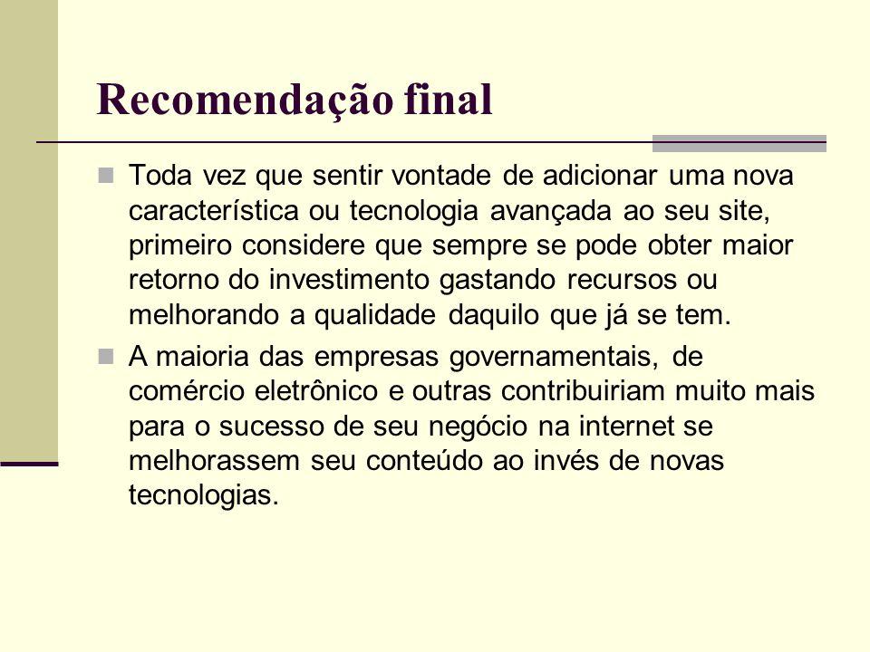 Recomendação final