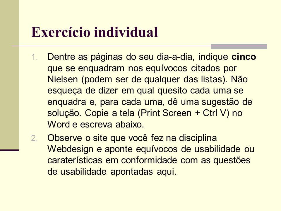 Exercício individual