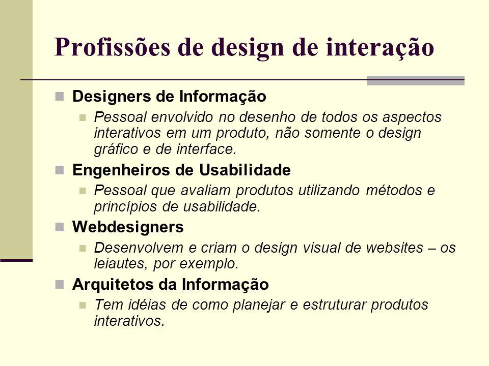 Profissões de design de interação
