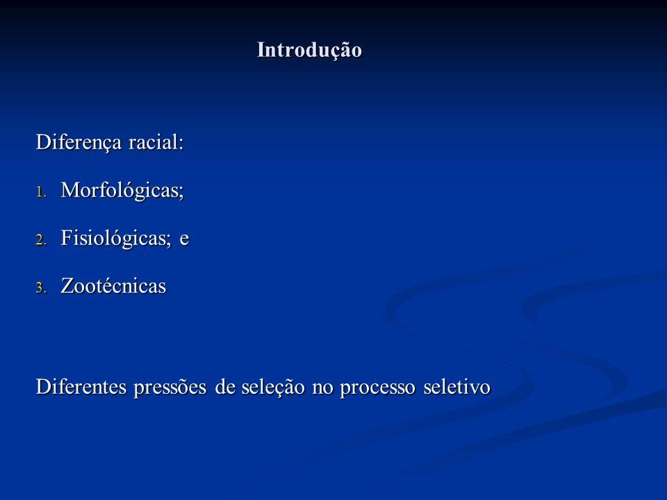 Introdução Diferença racial: Morfológicas; Fisiológicas; e.