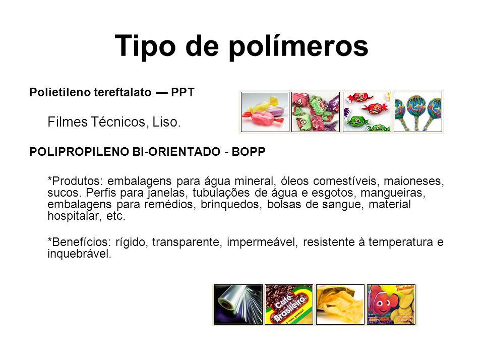 Tipo de polímeros Polietileno tereftalato — PPT Filmes Técnicos, Liso.