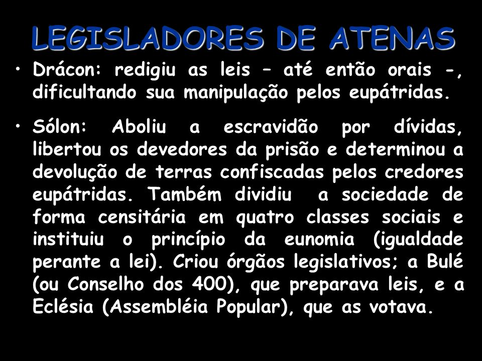 LEGISLADORES DE ATENAS
