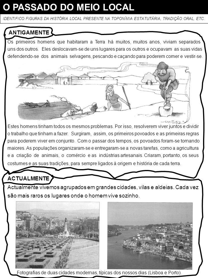 O PASSADO DO MEIO LOCAL ANTIGAMENTE ACTUALMENTE