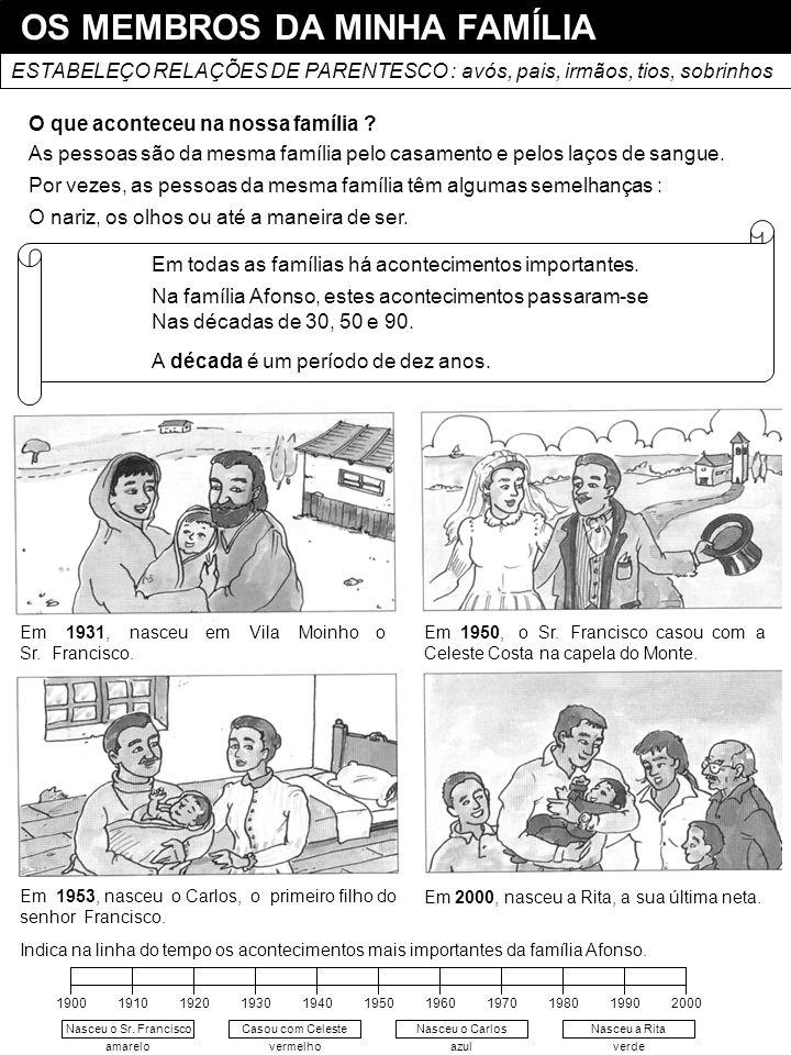 OS MEMBROS DA MINHA FAMÍLIA