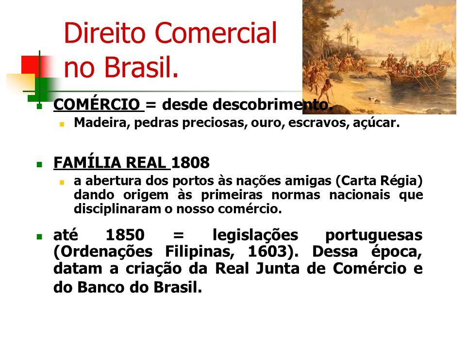 Direito Comercial no Brasil.