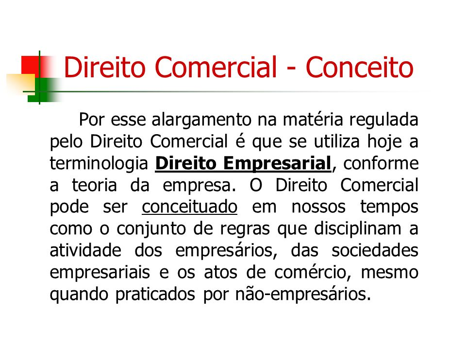 Direito Comercial - Conceito