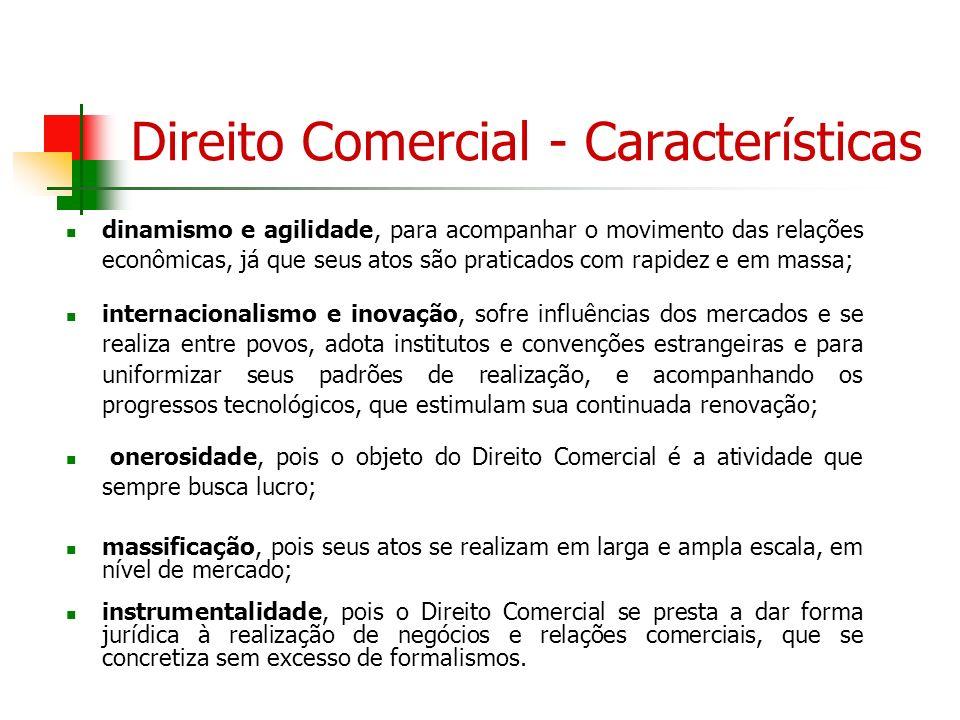 Direito Comercial - Características