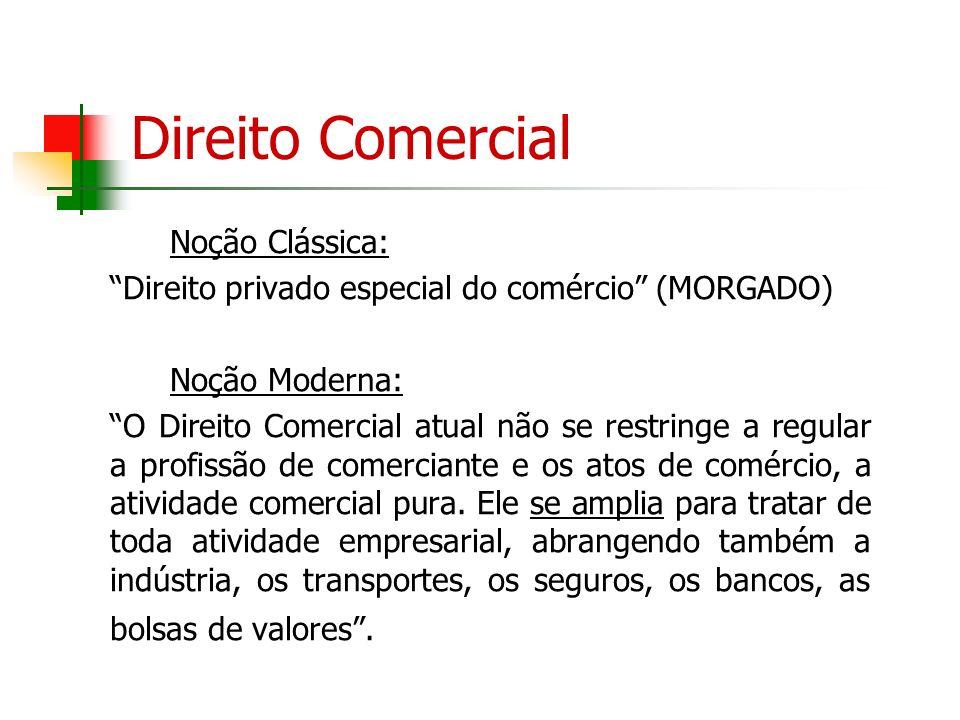 Direito Comercial Noção Clássica: