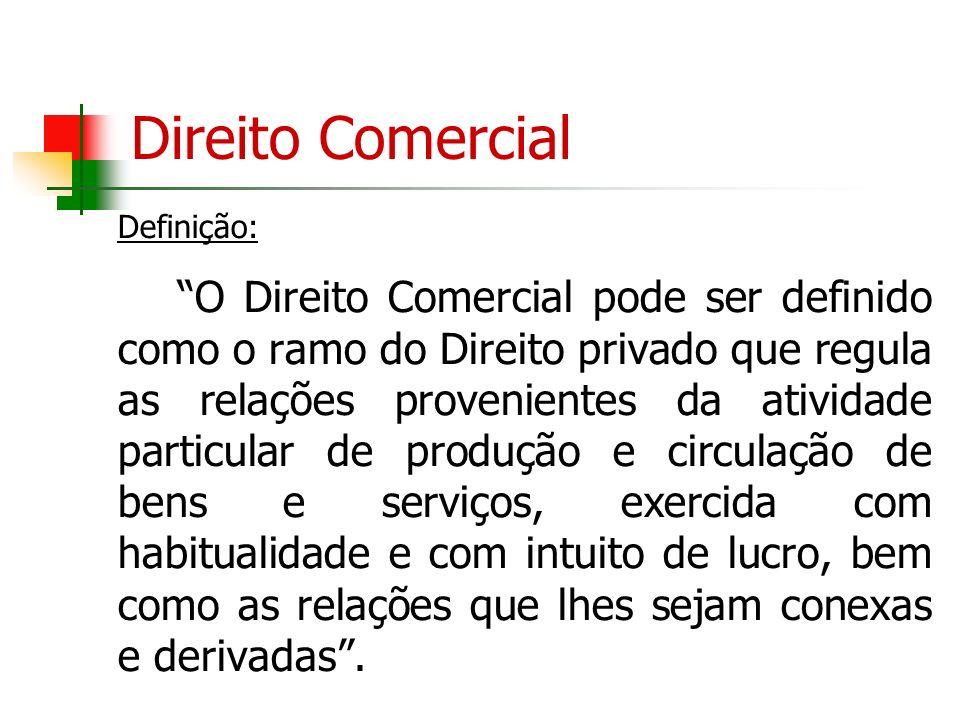Direito Comercial Definição:
