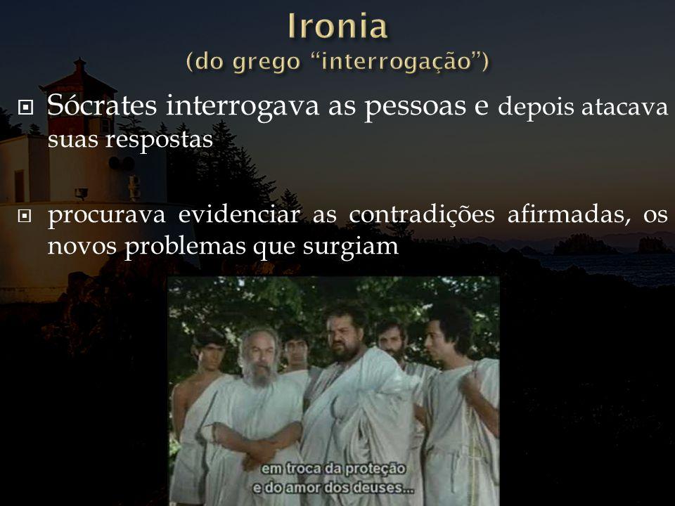 Ironia (do grego interrogação )