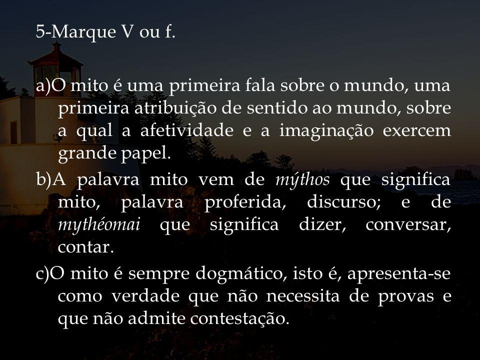 5-Marque V ou f.