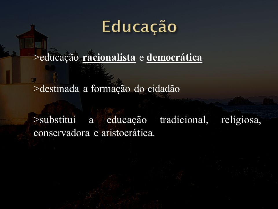 Educação >educação racionalista e democrática