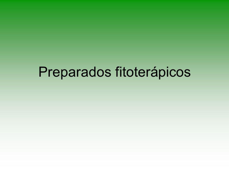 Preparados fitoterápicos