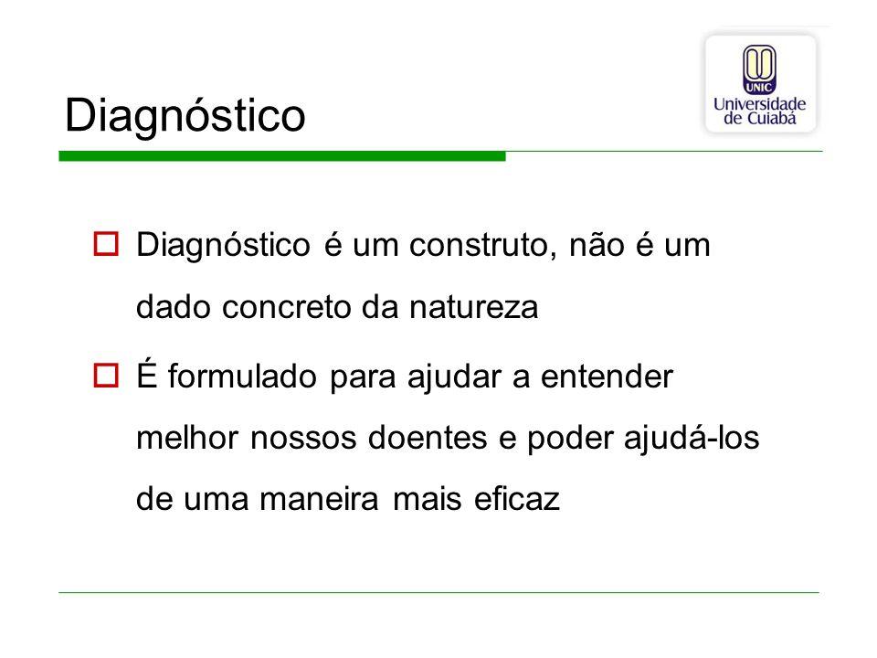 Diagnóstico Diagnóstico é um construto, não é um dado concreto da natureza.
