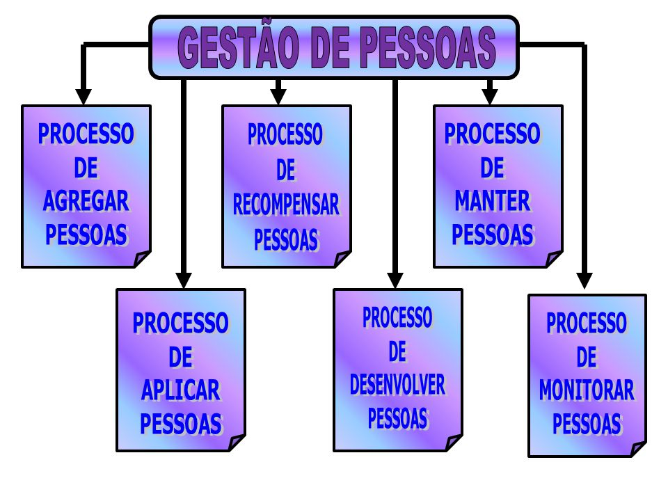 GESTÃO DE PESSOAS PROCESSO. DE. AGREGAR. PESSOAS. PROCESSO. DE. RECOMPENSAR. PESSOAS. PROCESSO.