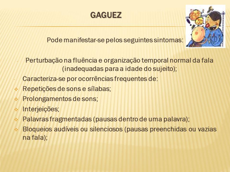 Pode manifestar-se pelos seguintes sintomas: