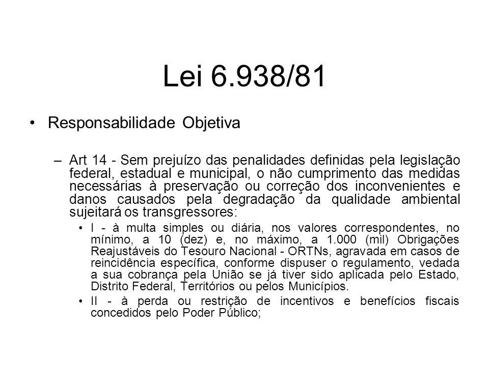 Lei 6.938/81 Responsabilidade Objetiva