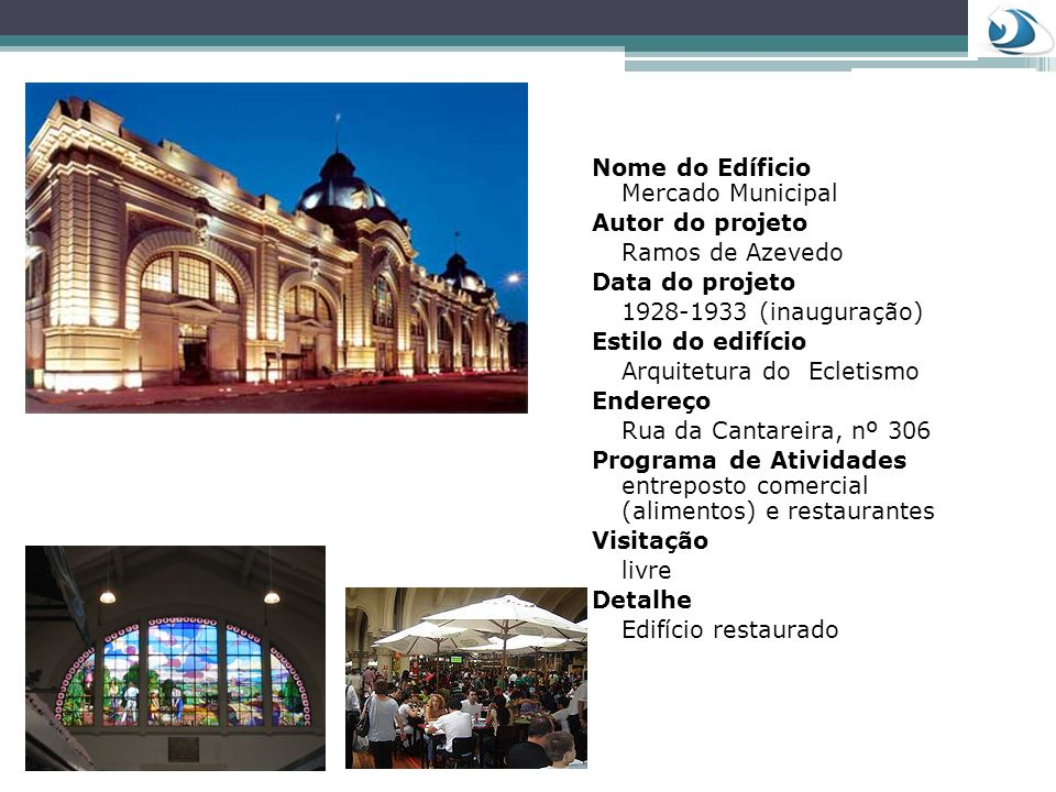 Nome do Edíficio Mercado Municipal