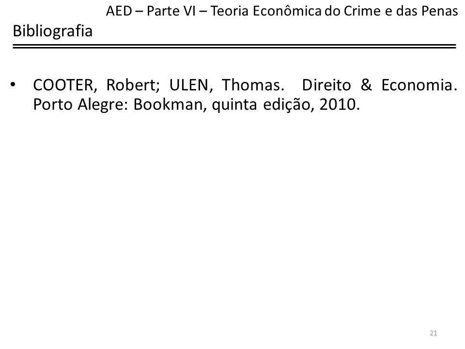 AED – Parte VI – Teoria Econômica do Crime e das Penas