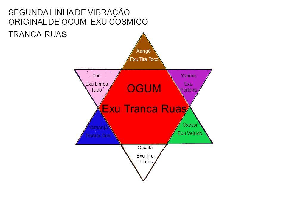 SEGUNDA LINHA DE VIBRAÇÃO ORIGINAL DE OGUM EXU COSMICO TRANCA-RUAs