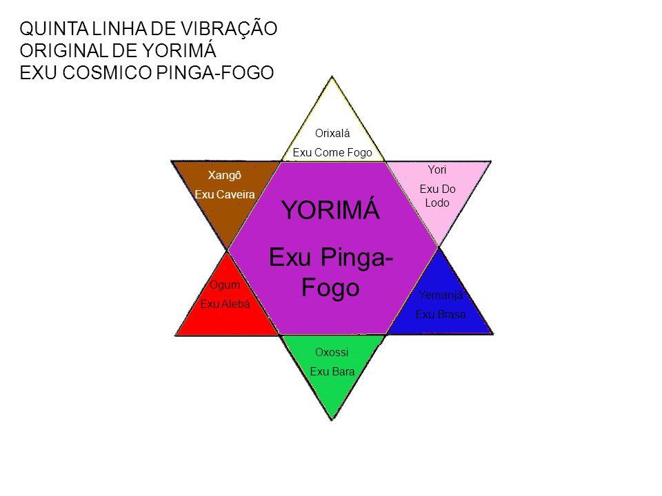 QUINTA LINHA DE VIBRAÇÃO ORIGINAL DE YORIMÁ EXU COSMICO PINGA-FOGO