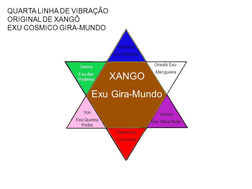 QUARTA LINHA DE VIBRAÇÃO ORIGINAL DE XANGÔ EXU COSMICO GIRA-MUNDO
