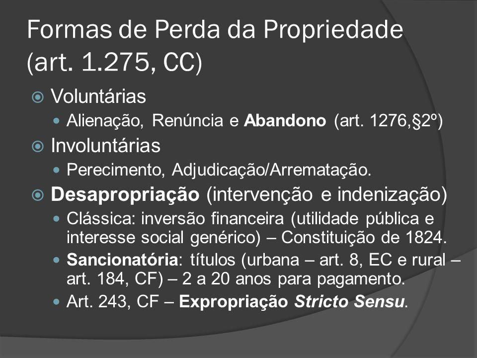 Formas de Perda da Propriedade (art. 1.275, CC)