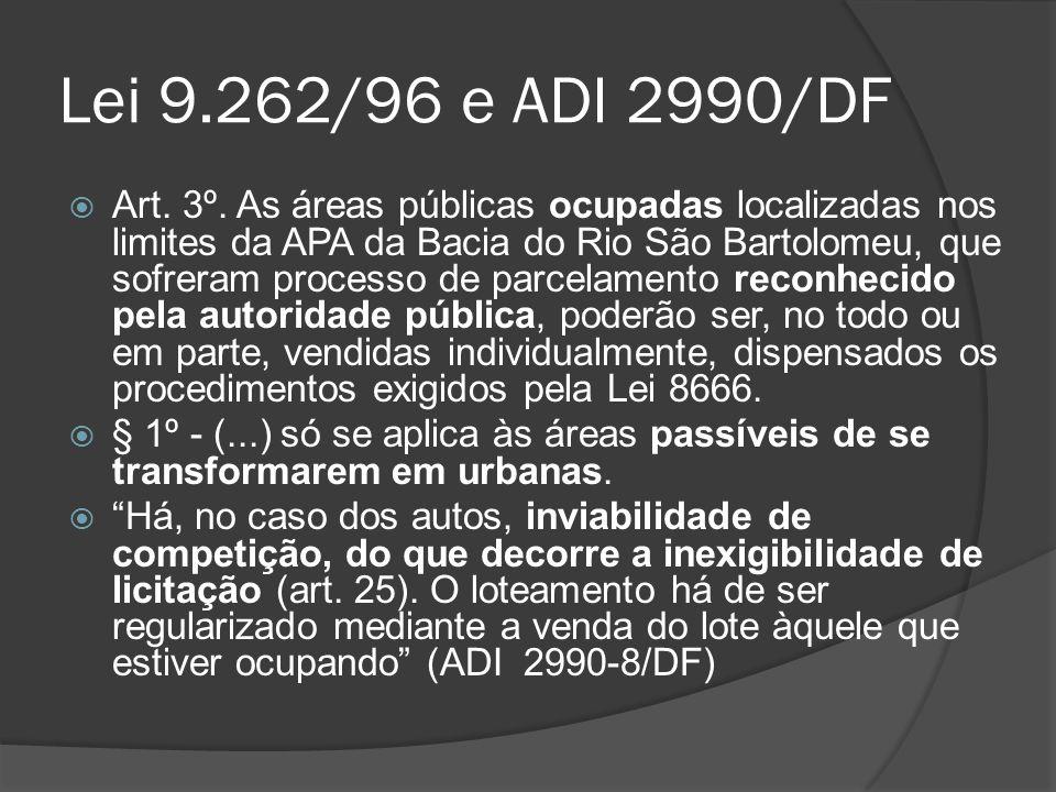 Lei 9.262/96 e ADI 2990/DF